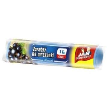JAN NIEZBĘDNY Torebki na mrożonki z klipsami 1l 60 szt. 1szt