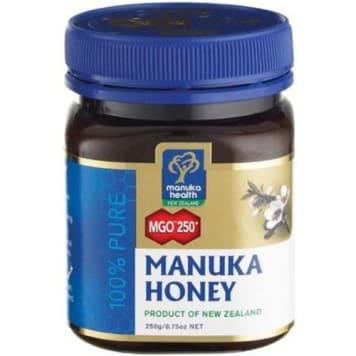 Manuka-Miód MGO 250 to produkt o właściwościach zdrowotnych.