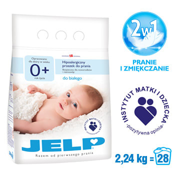 JELP 0+ Hipoalergiczny proszek do prania do białego 2.24kg