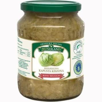 Kapusta kiszona Bio Runoland to produkt ekologiczny, baza do tradycyjnych potraw.