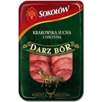 Kiełbasa krakowska sucha – Sokołów. Nadaje się jako przekąska na powitanie gości.