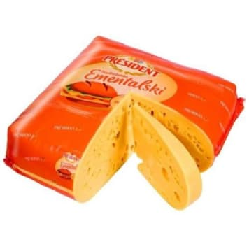 Ser Ementalski - President. Idealna propozycja dla osób ceniących sobie produkty wysokiej jakości.