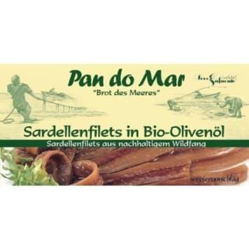 Anchois w oliwie z oliwek BIO 50g - Pan Do Mar. Oryginalny, ale pyszny produkt.