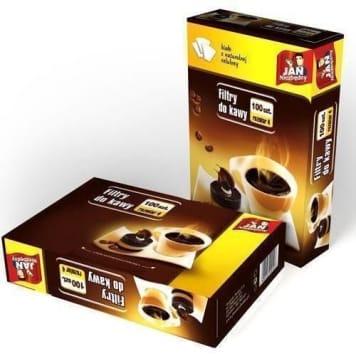JAN NIEZBĘDNY Filtry do kawy rozmiar 4, 100 szt 1szt