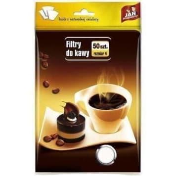 JAN NIEZBĘDNY Filtry do kawy rozmiar 4, 50 szt 1szt