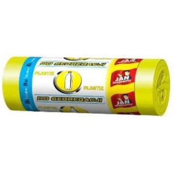 JAN NIEZBĘDNY Worki do segregacji 35l 20szt - żółty 1szt