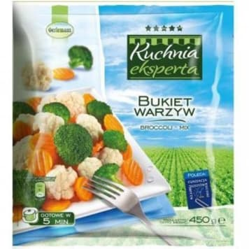 Mrożony bukiet warzyw – Oerlemans to mieszanka marchewki, brokułu i kalafiora.