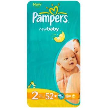 PAMPERS New Baby Pieluchy Rozmiar 2 Mini (3-6kg) 52 szt 1szt