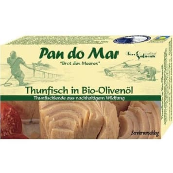 Tuńczyk w oliwie z oliwek Pan Do Mar to doskonałe mięso ryb, pochodzących ze zrownoważonych połowów.