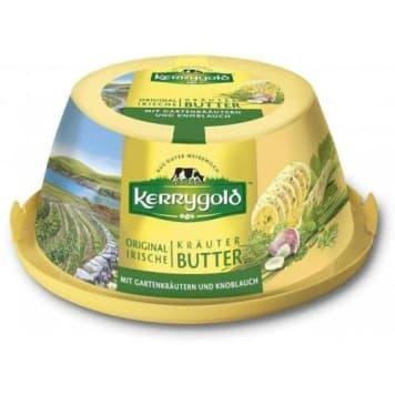 KERRYGOLD Tradycyjne irlandzkie masło z ziołami i czosnkiem 150g
