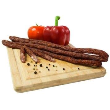 Kabanosy wieprzowe - WIERZEJKI. Wyprodukowane z najlepszego mięsa wieprzowego.