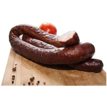 Kiełbasa z beczki - Wierzejki. Kiełbasa wieprzowo-drobiowa z czosnkiem i mieszanką przypraw.