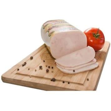 Szynka z piersi indyka - Wierzejki. Parzona, soczysta, rewelacyjna wędlina najwyższej jakości.