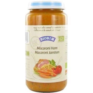 Obiadek z makaronem i szynką - Joannusmolen Biobim. Posiłek dla dzieci po 1. roku życia