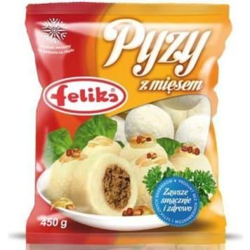 Pyzy z mięsem mrożone - Feliks. Pożywne danie o tradycyjnym smaku, z najlepszych składników.