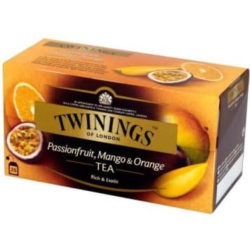 Herbata - Twinings. Orzeźwiający napój o smaku pomarańczy i mango.