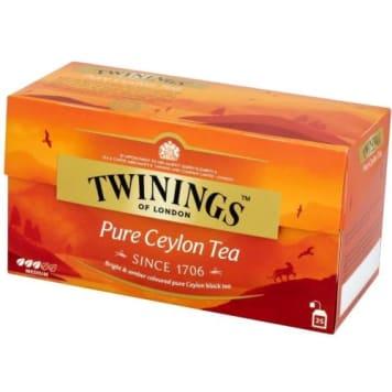 Herbata ekspresowa Ceylon Orange – Twinings. Ma ceniony cejloński aromat i doskonały smak.