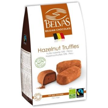 Czekoladki truffle z orzechami BIO - Belvas. Wyrafinowany przysmak z naturalnych składników.