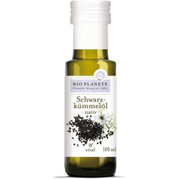 Olej z czarnuszki - Bio Planete. Olej o ostrym, pieprznym smaku z kwasem Omega-6 i linolowym.