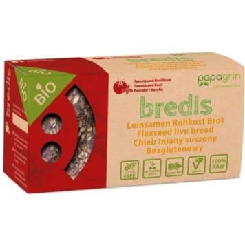 Lniany  chleb suszony z pomidorami, bazylią – Papagrin. Alternatywa dla  tradycyjnego pieczywa.