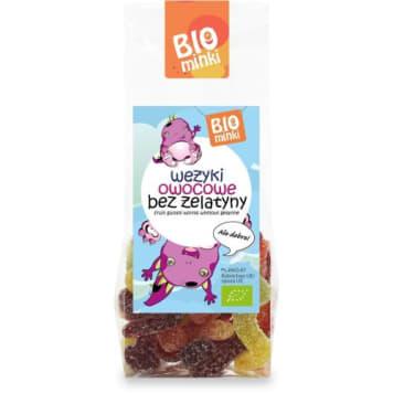 Wężyki owocowe bez żelatyny Bio - Lbiominki. Pyszna alternatywna dla słodyczy.