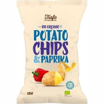 Chipsy ziemniaczane o smaku paprykowym - Trafo. Słona przekąska z najlepszych, wyselekcjonowanych składników.