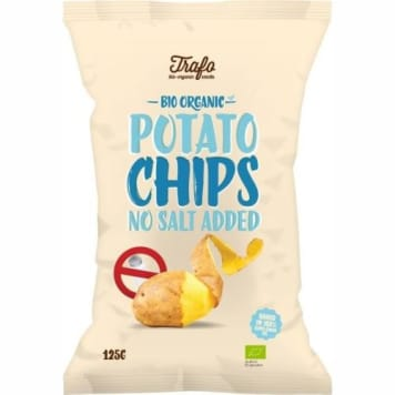 Chipsy ziemniaczane naturalne bez dodatku soli - Trafo. Naturalna, niskosodowa przekąska.
