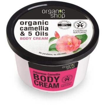 Krem do ciała Japońska Kamelia – Organic Shop powstał na bazie naturalnych ekstraktów.