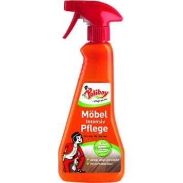 Spray do pielęgnacji mebli – Poliboy. Skuteczny środek na kurz, brud, nadający meblom połysk.