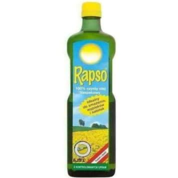 Olej rzepakowy – Rapso to doskonały produkt dla odżywiających się świadomie.