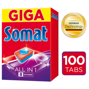 SOMAT All in 1 Tabletki do zmywarek 100 szt. 1 szt