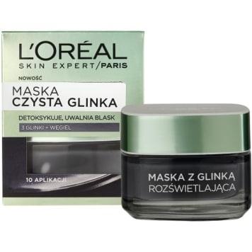 Maska detoksykująca z czystą glinką Expert - Loreal odświeża i głęboko oczyszcza skórę.