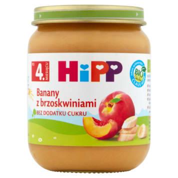 Hipp Owoce - Banany z brzoskwiniami BIO - po 4 miesiącu. Pyszny deserek dla najmłodszych.