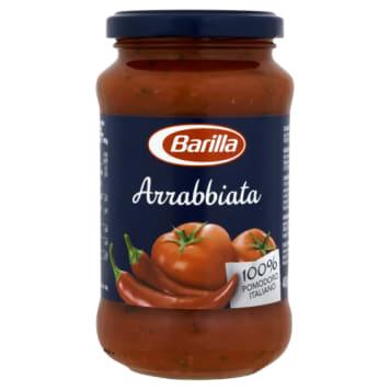 Barilla - Sos pomidorowy Arrabbiata z ostrą papryką. Ze świeżych pomidorów i papryczek peperoncino.