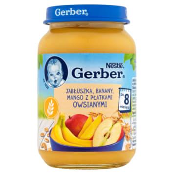 Gerber - Owoce z płatkami owsianymi dla dzieci po 8 msc. Zdrowy posiłek dla najmłodszych.