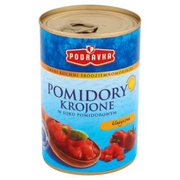 Pomidory krojone 400g - Podravka. Obowiązkowy produkt w każdej kuchni.
