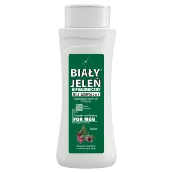 Biały Jeleń - żel i szampon dla mężczyzn z łopianem. Dobrej jakości produkt hipoalergiczny.
