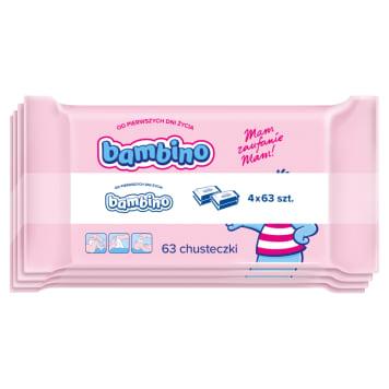 BAMBINO Chusteczki dla niemowląt 4x63 szt. 1szt