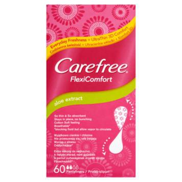 CAREFREE Flexi Comfort Wkładki higieniczne Aloe 60 1szt