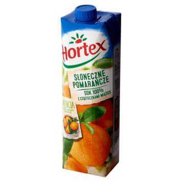 Hortex - Sok słoneczne pomarańcze z miąższem 100%. Tak smakuje lato.