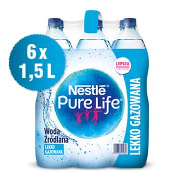 Nestlé Pure Life -  Woda źródlana lekko gazowana. Źródło życia w butelce.