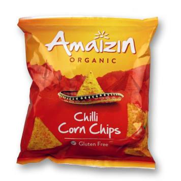 AMAIZIN Chipsy kukurydziane chilli bezglutenowe BIO 75g