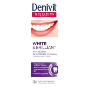 Pasta do zębów wybielająca - Denivit. Codzienna pielęgnacja jamy ustnej.