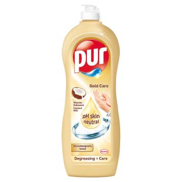 Pur - Płyn do mycia naczyń Gold Care. Skuteczny środek o zapachu mleczka kokosowego.