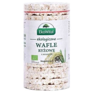 EKO WITAL Wafle ryżowe z sezamem bezglutenowe BIO 110g