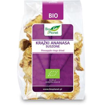 Suszone krążki ananasa - BIO PLANET. Dietetyczne krązki, z dużą zawartością wody.