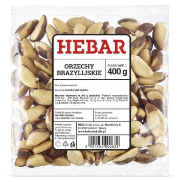 Orzechy brazylijskie, 400 g – Hebar. Są bogatym źródłem selenu i minerałów.