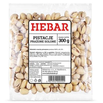 Solone pistacje prażone, 300 g – Herbar. Zawierają potas, wapń, magnez, fosfor, miedź.