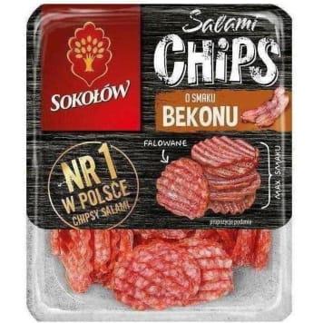 SOKOŁÓW Salami Chips Chipsy salami o smaku bekonowym 60g