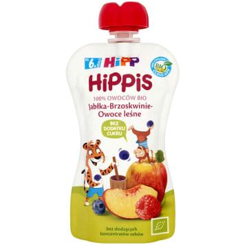 HIPP HiPPiS Jabłka-Brzoskwinie-Owoce leśne Mus owocowy po 6. miesiącu BIO 100g